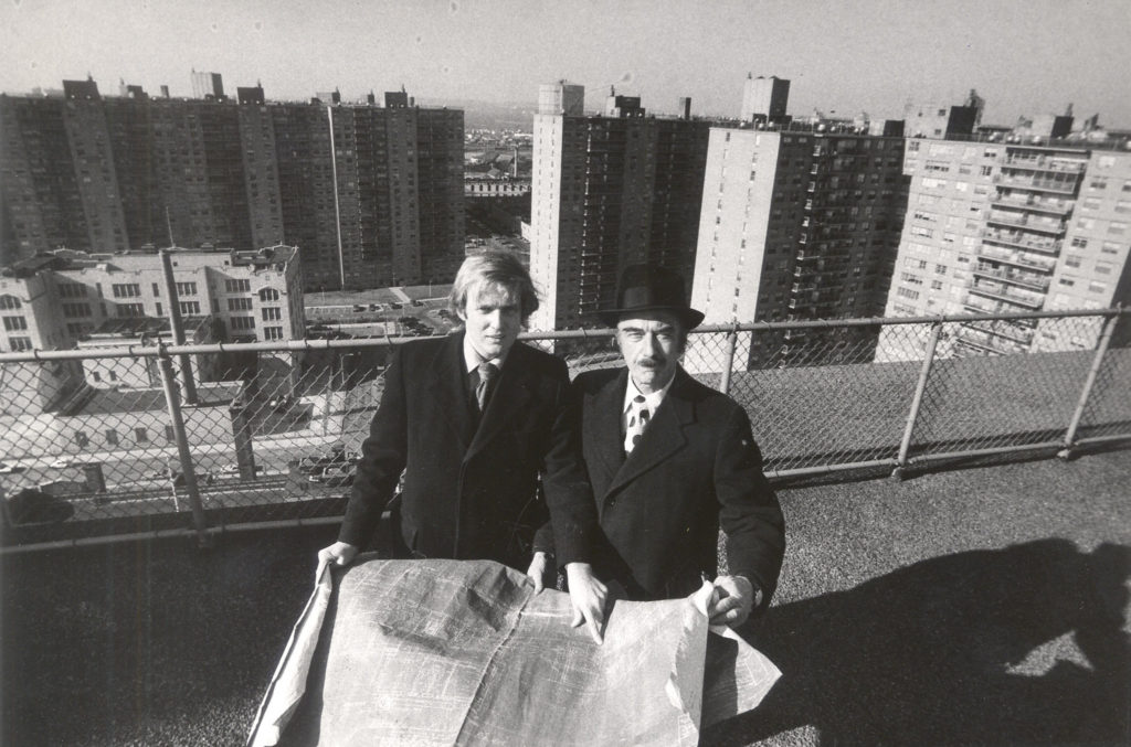 Donald Trump and his father, Fred, in 1973 at Trump Village in New York City. Photo Credit: Barton Silverman/The New York Times